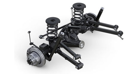 FIVE-LINK COIL REAR SUSPENSION